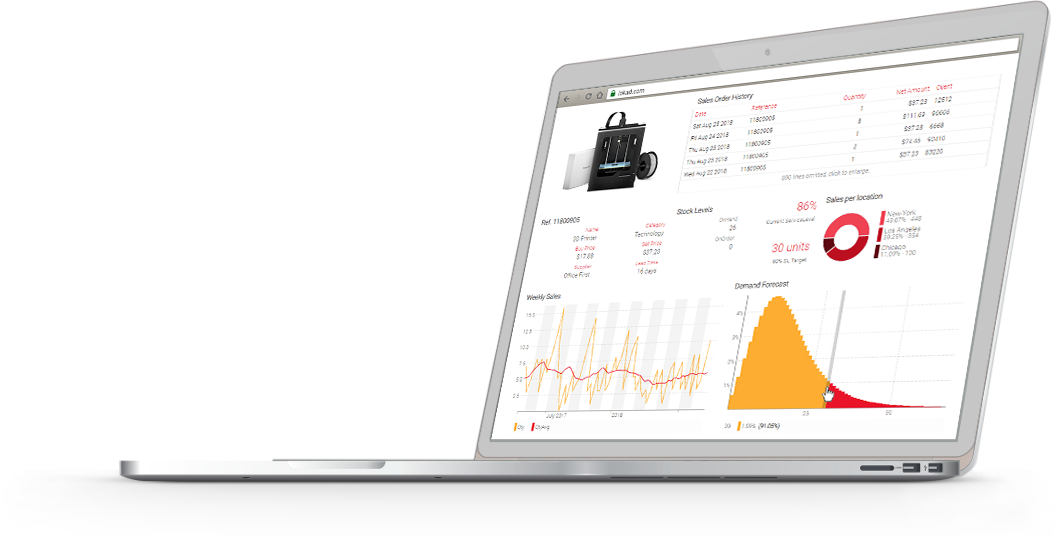 Notebook displaying an Envision dashboard