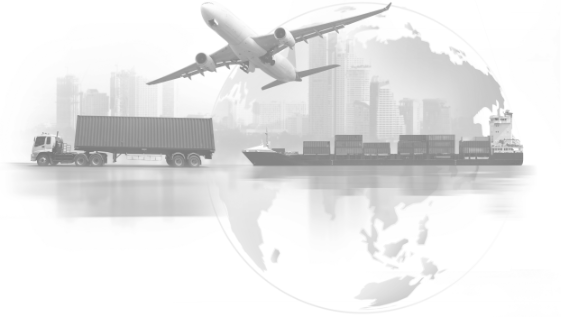 A trucks, an aircraft and a container ship as a metaphor of the world of supply chain.